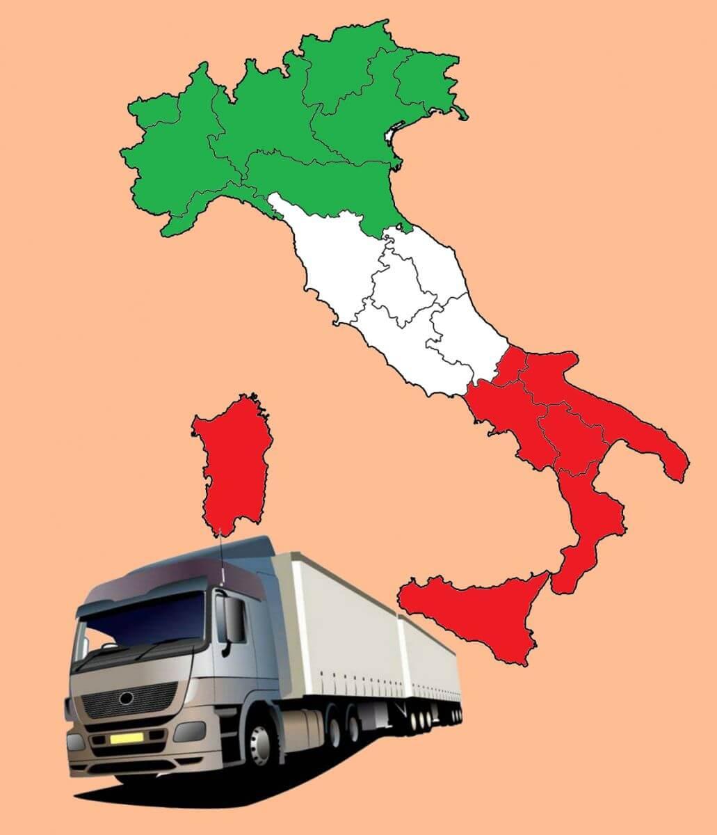 Грузоперевозки из Италии в Россию