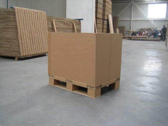 производство и вес картонных палет